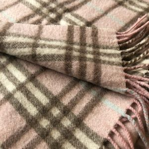 Burberry Accessories - Burberry London Pink Cashmere Scarf